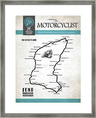Motorcycle Magazine Isle Of Man Tt Guide 1938 Framed Print