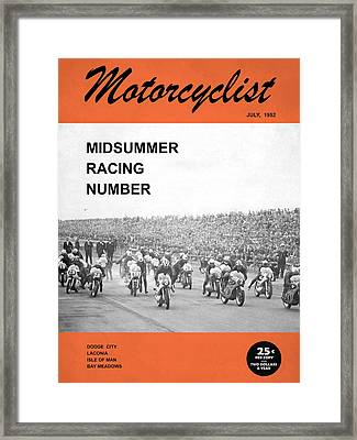 Motorcycle Magazine Midsummer Racing 1952 Framed Print