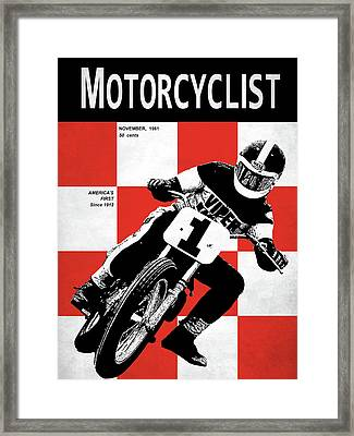 Motorcycle Magazine Number One 1961 Framed Print