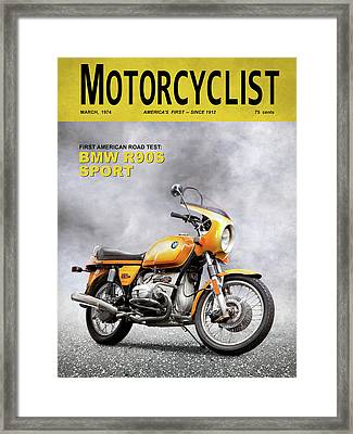 Motorcycle Magazine R90s 1974 Framed Print