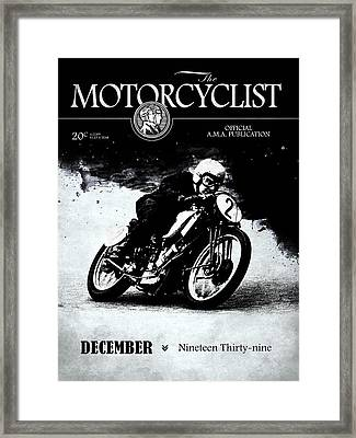 Motorcycle Magazine Racer Number Two 1939 Framed Print