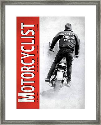 Motorcycle Magazine Racing Team 1966 Framed Print