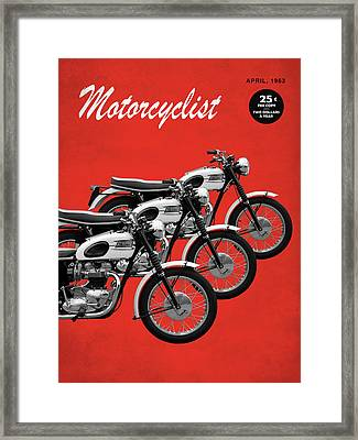 Motorcycle Magazine T120 Bonneville 1963 Framed Print