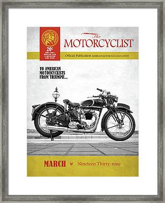 Motorcycle Magazine Triumph Speed Twin 1939 Framed Print