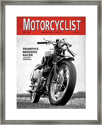 Motorcycle Magazine Weekend Racer 1960 Framed Print