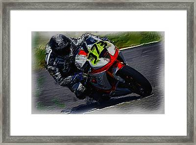 Motorcycle Racing 04a Framed Print