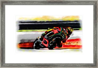 Motorcycle Racing 05a Framed Print