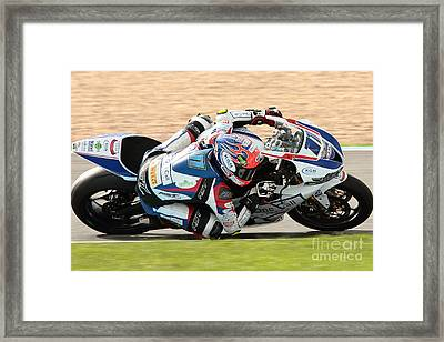 Motorcycle Racing Framed Print by Peter Hatter