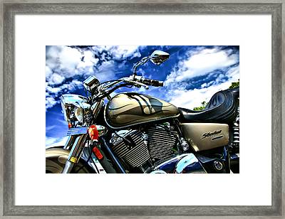 Motorcycle Shadow Sabre Framed Print