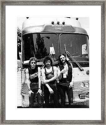 Motorhead 1982 Lemmy Kilmister,phil Taylor,brian Robertson Framed Print