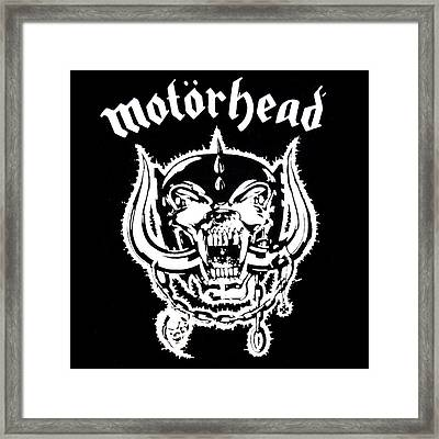 Framed Print featuring the digital art Motorhead by Gina Dsgn