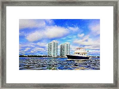 Motoring Past The Marina Grande Framed Print