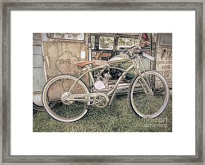 Motorized Bike Framed Print
