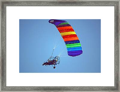 Motorized Parasail 2 Framed Print
