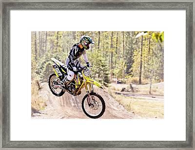 Motosport Biker Framed Print