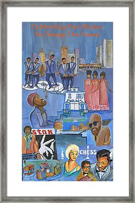 Motown Commemorative 50th Anniversary Framed Print by Kenji Tanner