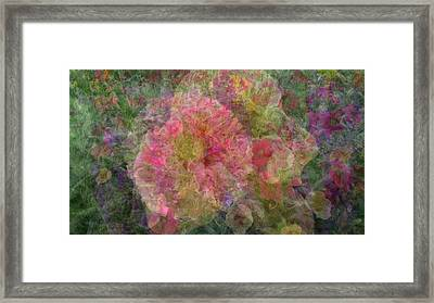Mottled Pink Collage Pop Framed Print
