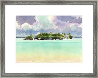 Motu Rapota, Aitutaki, Cook Islands, South Pacific Framed Print