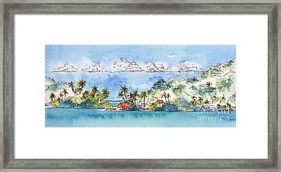 Motu Toopua Bora Bora Framed Print