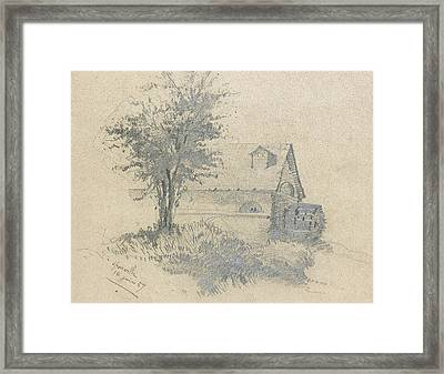 Moulin On The Lezarde Framed Print