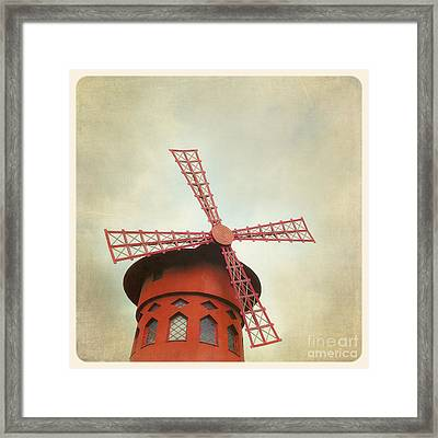 Moulin Rouge Instagram Style Framed Print
