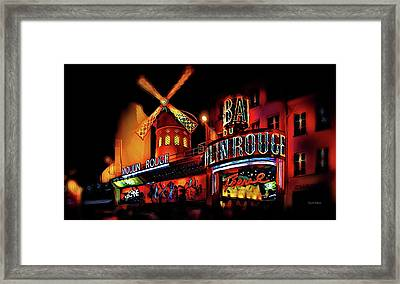 Moulin Rouge - The Red Mill Framed Print by Russ Harris