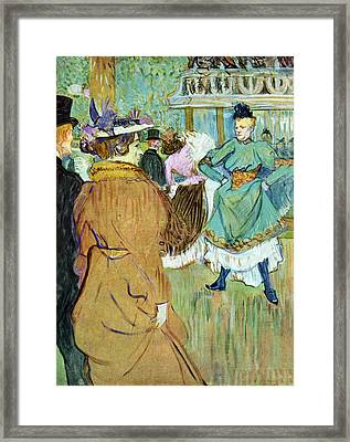 Moulin Rouge Framed Print by Toulouse Lautrec