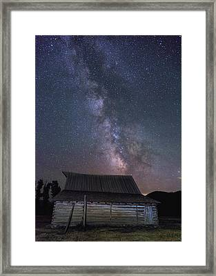 Moulton And The Milky Way Framed Print