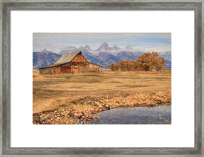Moulton Barn 2- Grand Tetons Framed Print