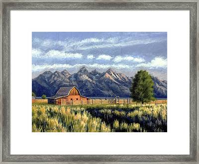 Moulton Barn At The Grand Tetons Framed Print