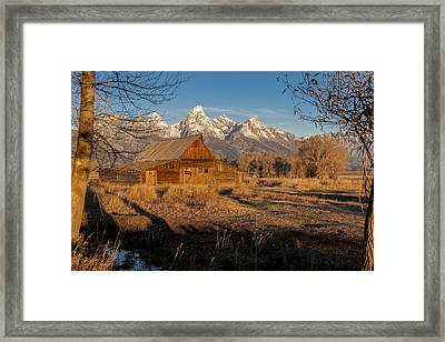 Framed Print featuring the photograph Moulton Barn by Gary Lengyel