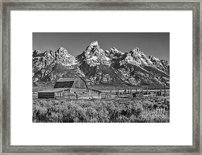 Moulton Cabin - Grand Tetons II Framed Print
