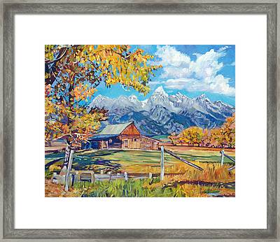 Moulton's Barn Grand Tetons Framed Print