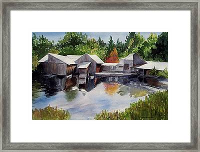 Moulton's Mill Framed Print by Anne Trotter Hodge