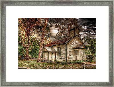 Moultrie Church At Dusk Framed Print