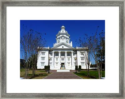 Moultrie Courthouse Framed Print by Carla Parris