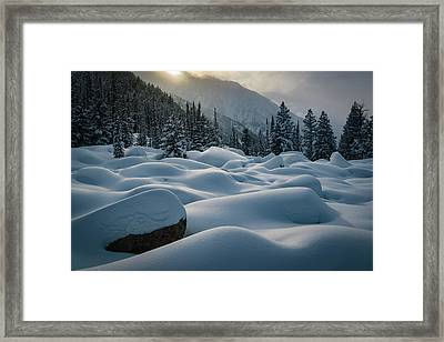 Mounds Of Snow In Little Cottonwood Canyon Framed Print
