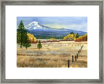 Mount Adams  Framed Print by Sharon Freeman