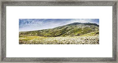 Mount Agnew Landscape In Tasmania Framed Print by Jorgo Photography - Wall Art Gallery