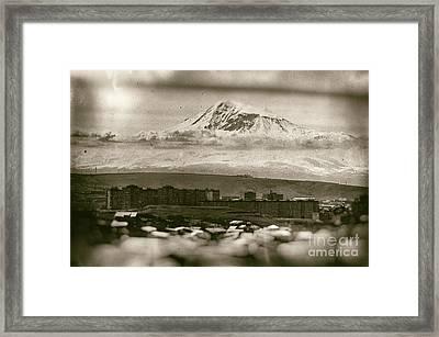 Mount Ararat From Yerevan Framed Print