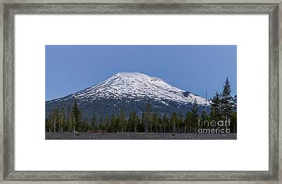 Mount Bachelor At Dawn Framed Print by Twenty Two North Photography
