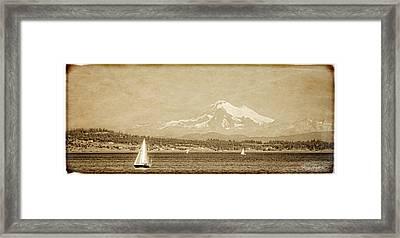 Mount Baker 10 Mile Point Framed Print