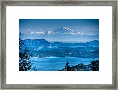 Mount Baker And The Gulf Islands Framed Print by R J Ruppenthal