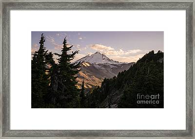 Mount Baker Beautiful Landscape Framed Print