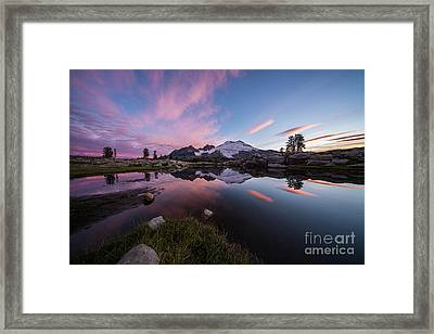 Mount Baker Dawns Colors Clarity Framed Print by Mike Reid