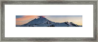 Mount Baker Dusk Panorama Framed Print by Mike Reid