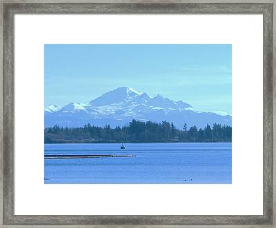 Mount Baker From The Spit Framed Print by James Johnstone