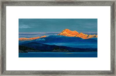 Mount Baker Sunset Framed Print by Marie-Claire Dole