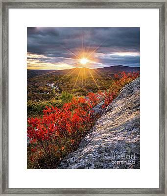 Mount Battie Sunset Framed Print