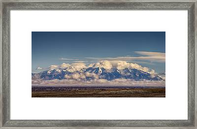 Mount Blanca With Skirt And Hat Framed Print by John Brink